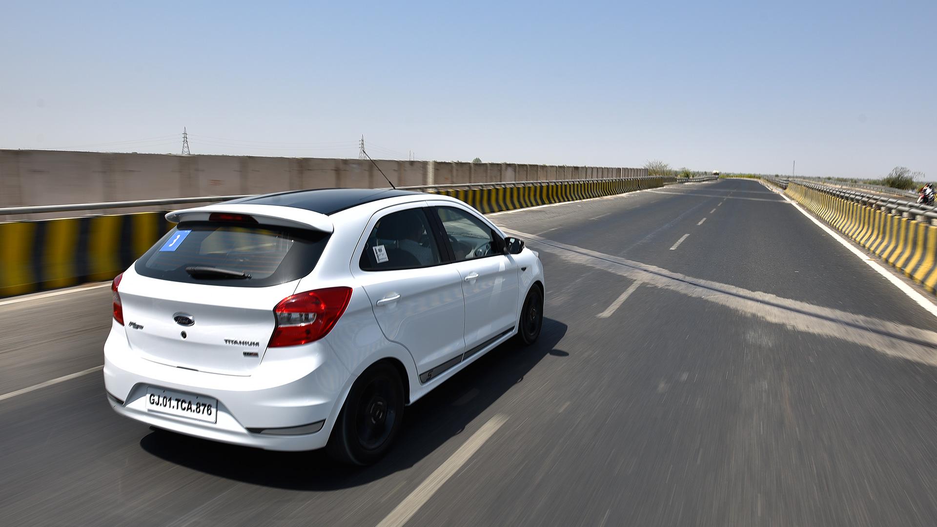 Ford Figo white rear ready