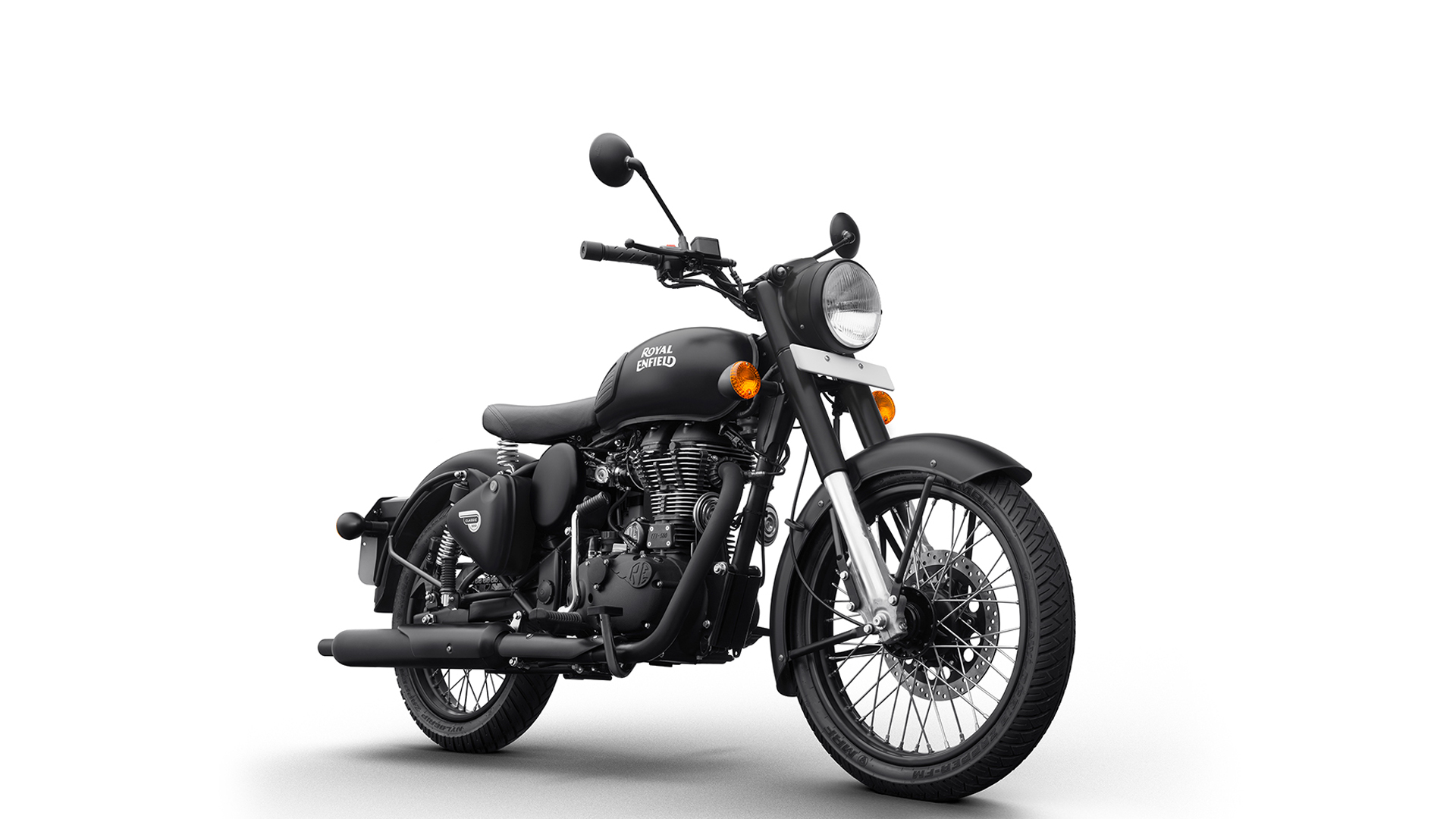 royal enfield classic 500 2017 stealth black price mileage reviews specification gallery. Black Bedroom Furniture Sets. Home Design Ideas