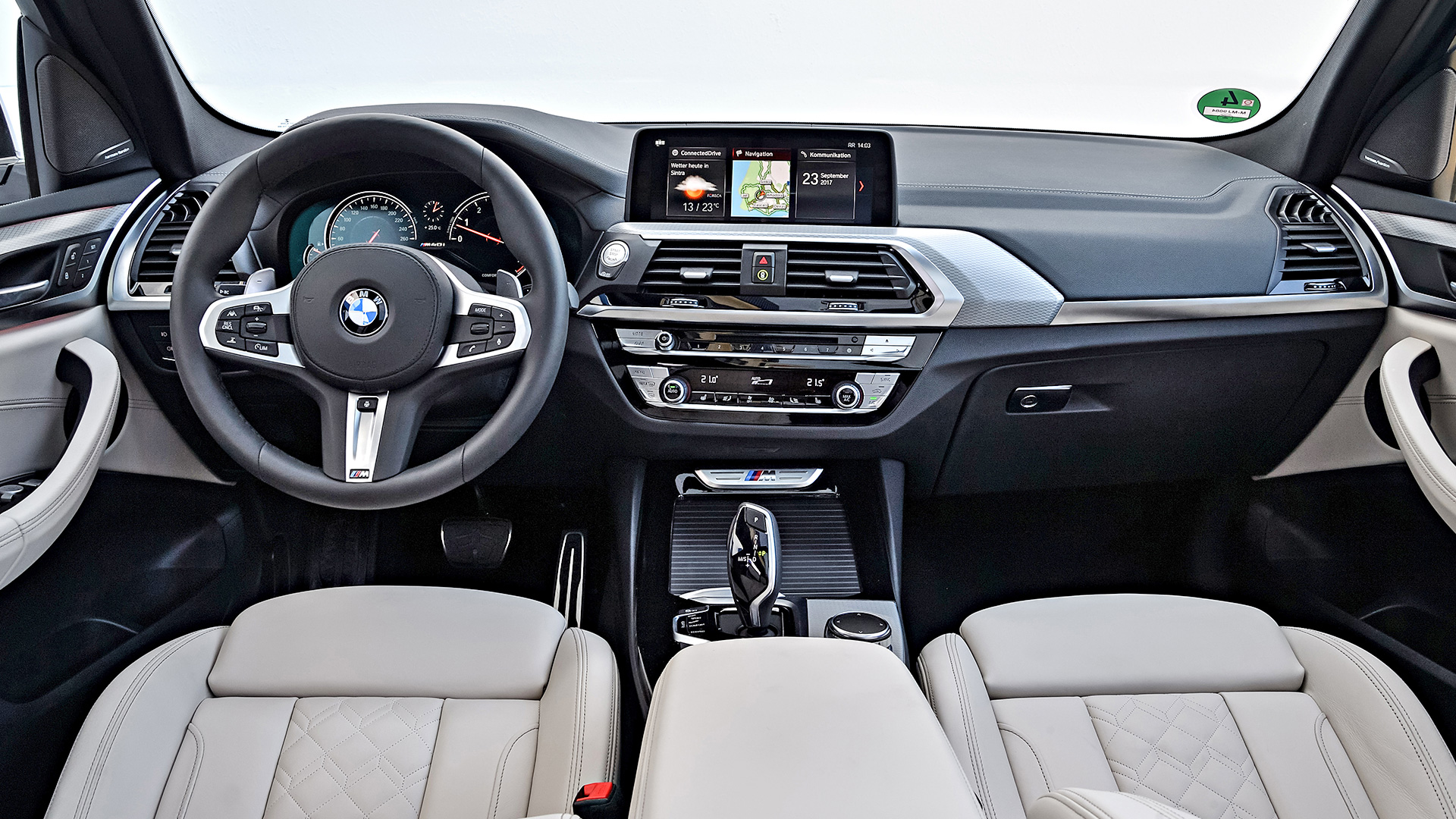 bmw x3 2018 m40i interior car photos overdrive. Black Bedroom Furniture Sets. Home Design Ideas