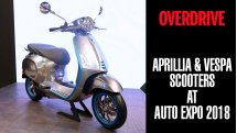 Aprillia & Vespa Scooters at Auto Expo 2018