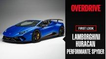Lamborghini Huracan Performante Spyder showcase at the 2018 Geneva Motor Show