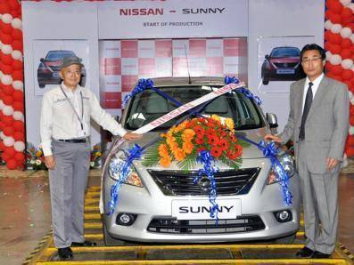 Nissan starts production of the Sunny sedan in India