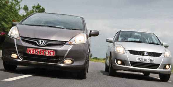 Honda Jazz vs Maruti Swift