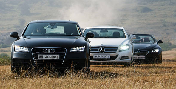 Audi A7 vs Mercedes CLS 350 vs BMW 650i