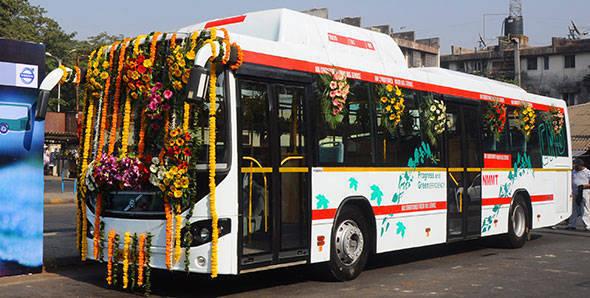 Volvo CNG bus trials begin in Navi Mumbai