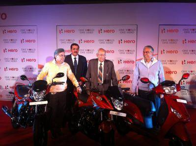 2012 Auto Expo - Hero MotoCorp unveils three new models