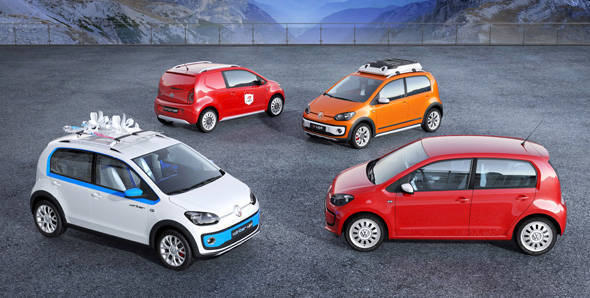 Geneva Motor Show 2012 - Volkswagen shows four Up! concepts
