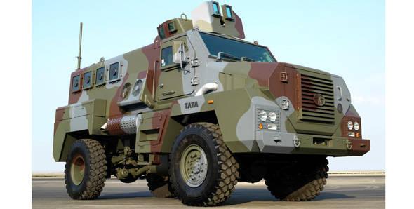 Tata Motors showcases its range of defence vehicles at DefExpo 2012