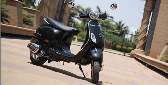 The new Vespa is priced at Rs 71,380 ex-Delhi