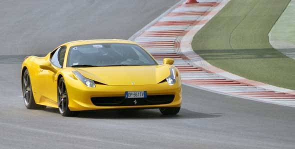 Ferrari 458 Italia at the Buddh International Circuit
