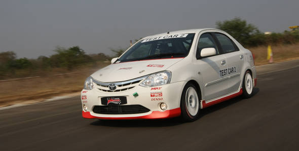 Exclusive! Toyota Etios Motor Racing car first drive