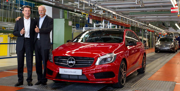 2012 Mercedes A-Class production begins