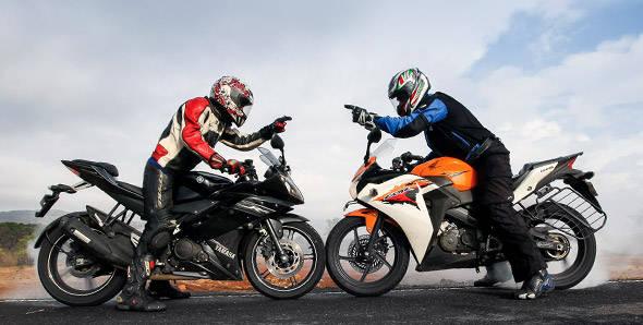 2012 Honda CBR150R vs Yamaha R15 v2.0 - Overdrive