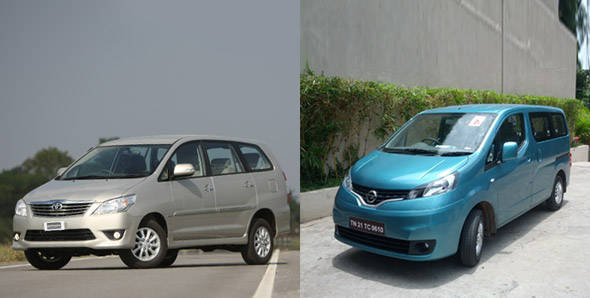 Quick look - Toyota Innova vs Nissan Evalia