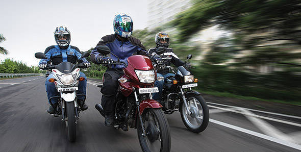 Comparo - 2012 Honda Dream Yuga vs Suzuki Hayate vs Hero Splendor+