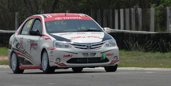 2012 Toyota Etios Motor Racing exhibition race one