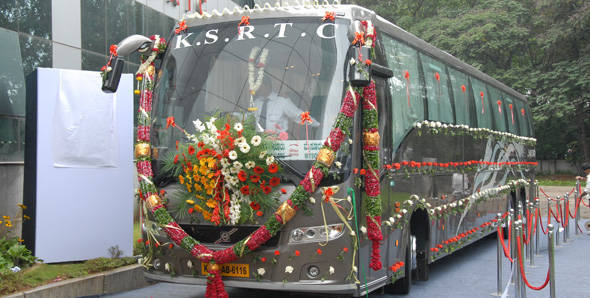 Volvo starts trials of 9400PX luxury coach in Bangalore