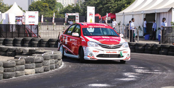 2012 Toyota Etios Motor Racing exhibition race two