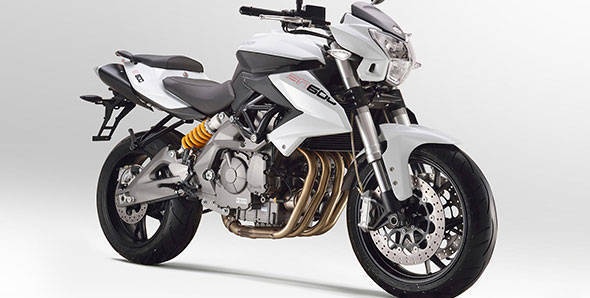 The four cylinder Benelli-BN600 is part of the line-up of vehicles coming to India