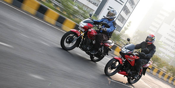 Comparo - 2012 TVS Phoenix vs Honda CBF Stunner