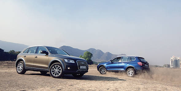 Comparo  2013 Audi Q5 vs BMW X3  Overdrive