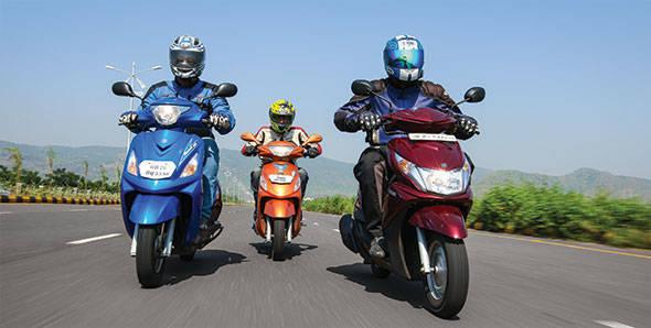 Comparo - 2012 Yamaha Ray vs Suzuki Swish vs Mahindra Rodeo