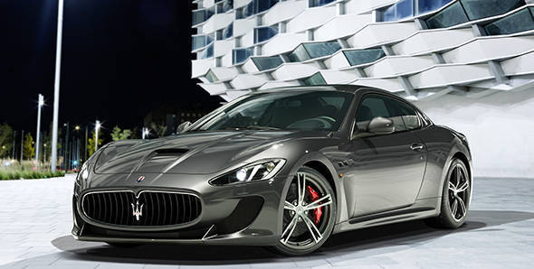Maserati GranTurismo MC Stradale on its way to Geneva