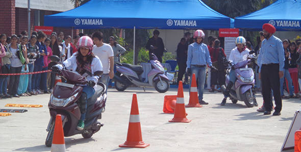 Yamaha India conducts female rider training program in Delhi