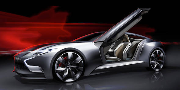 Teased: Hyundai HND-9 luxury sports coupe concept