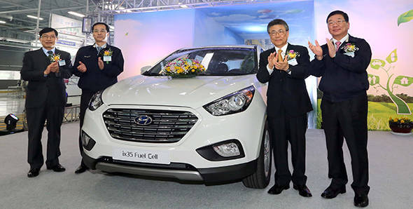 Hyundai starts production of ix35 fuel cell SUV