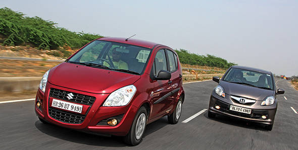 Comparo: 2013 Maruti Ritz automatic vs Honda Brio automatic