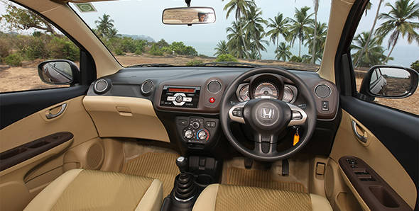 2013 Honda Amaze i-DTEC in India interiors