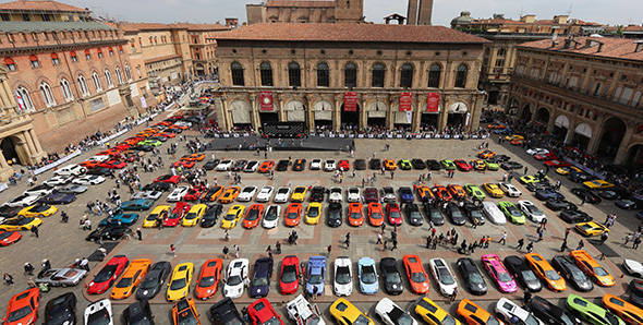 Celebrating 50 years of Lamborghini in Italy