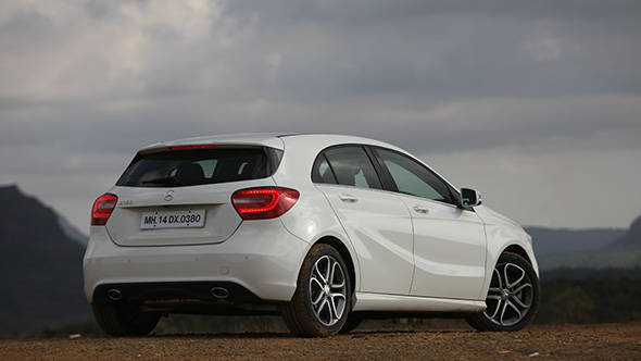 2013 Mercedes A-Class A180 in India rear quarters