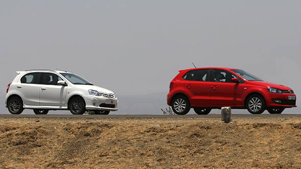 The Toyota Etios Liva TRD Sportivo and the VW Polo GT