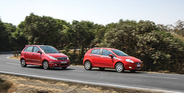 Comparo: 2013 Fiat Punto 90 HP vs Tata Vista D90 in India