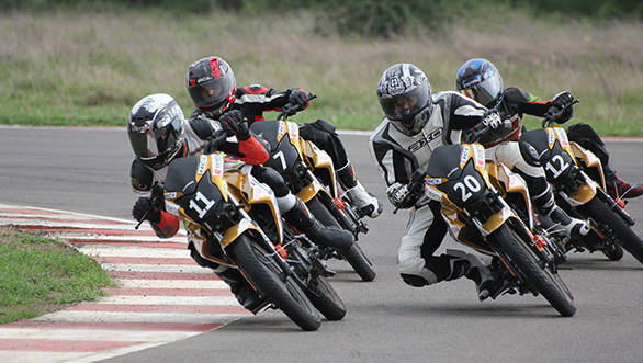 Action from the Honda one-make Championship-CB Twister Novice