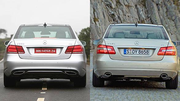 E-class comparison rear shot