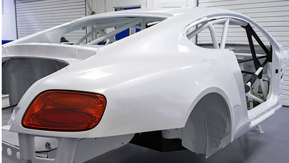 Bentley Continental GT3 is almost track-ready