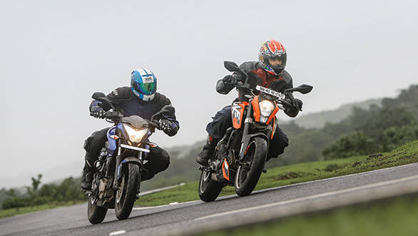 2012 Bajaj Pulsar 200NS and KTM 200 Duke