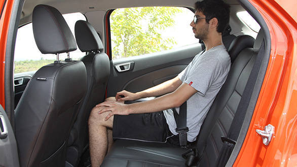 2013 Ford EcoSport in India rear seat space