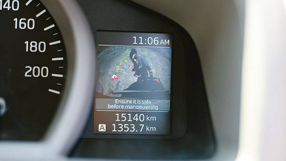 The Evalia features a reversing camera, useful when reversing a large van
