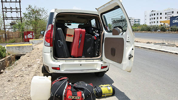 With seats folded down the Xylo swallows a lot of luggage but not quite all of it