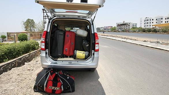 We were surprised at just how much luggage the Enjoy could swallow.