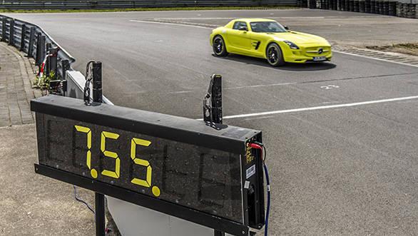 Mercedes SLS AMG Electric Drive at the Nurburgring