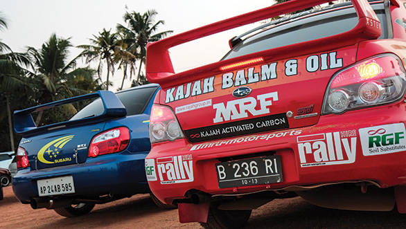 The road and rally Subaru Imprezas