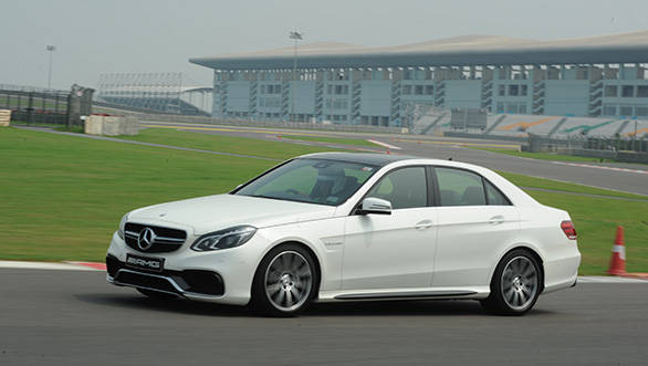 The E63 AMG can dance! The steering is precise and has a fantastic feel to it. It's not ponderous and turn-in is quick