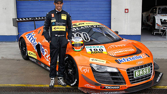 Aditya Patel with his Audi R8 LMS Ultra