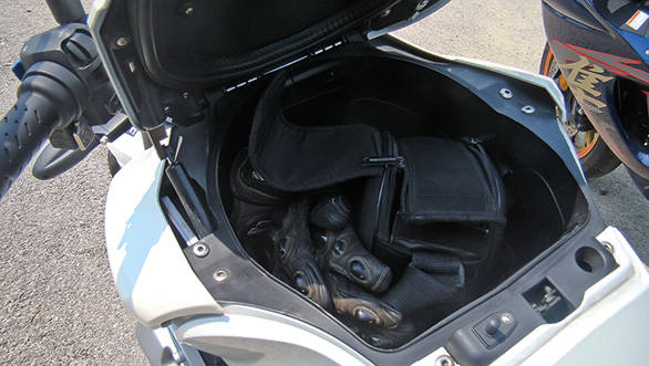 Open up the fuel tank and instead of fuel you will most likely find a full size helmet