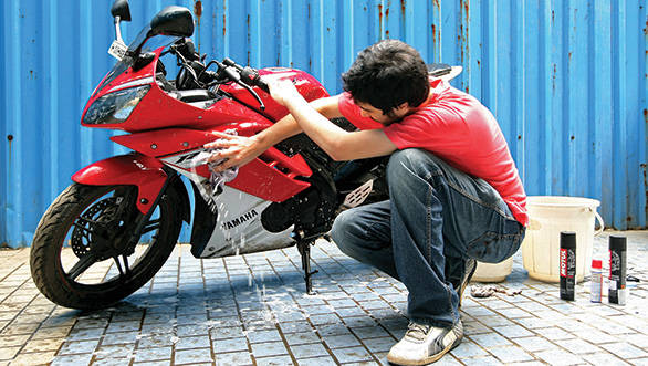 Motorcycle cleaning made quick and easy